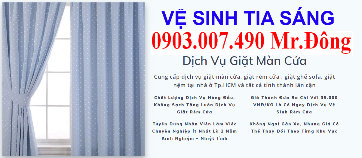 Dịch vụ Giặt rèm cửa ở Tp.HCM