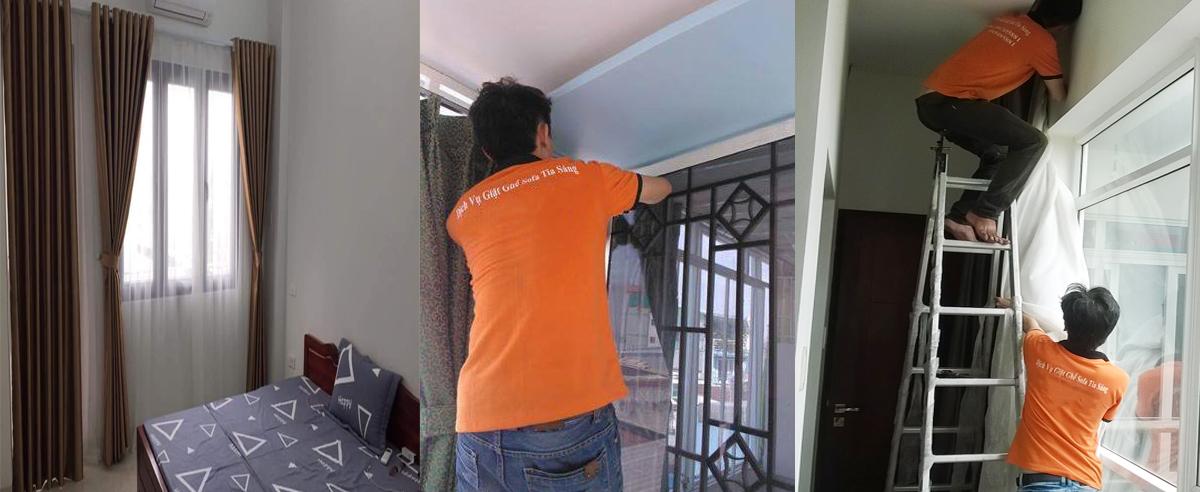 giặt màn cửa - rèm cửa tại Hà Nội