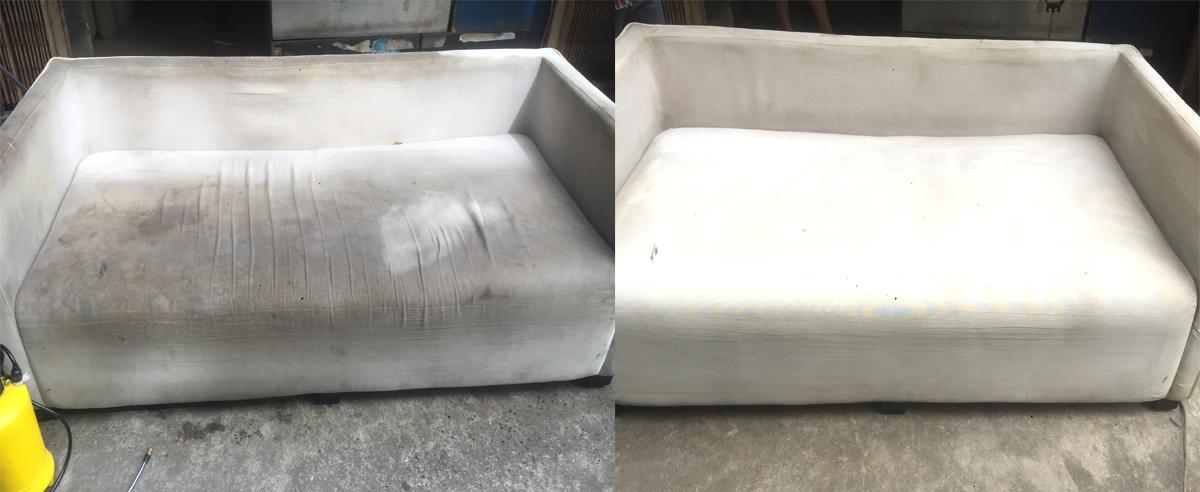 ghế sofa trước và sau khi vệ sinh